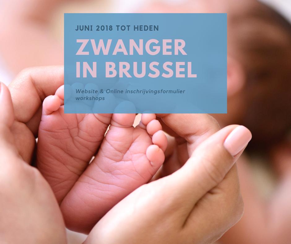 Website en inschrijvingen Zwanger in Brussel