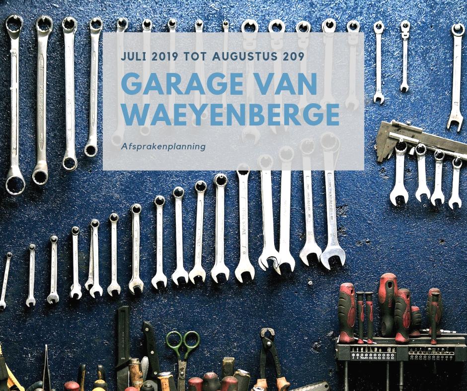 Afspraken planning Garage Van Waeyenberge