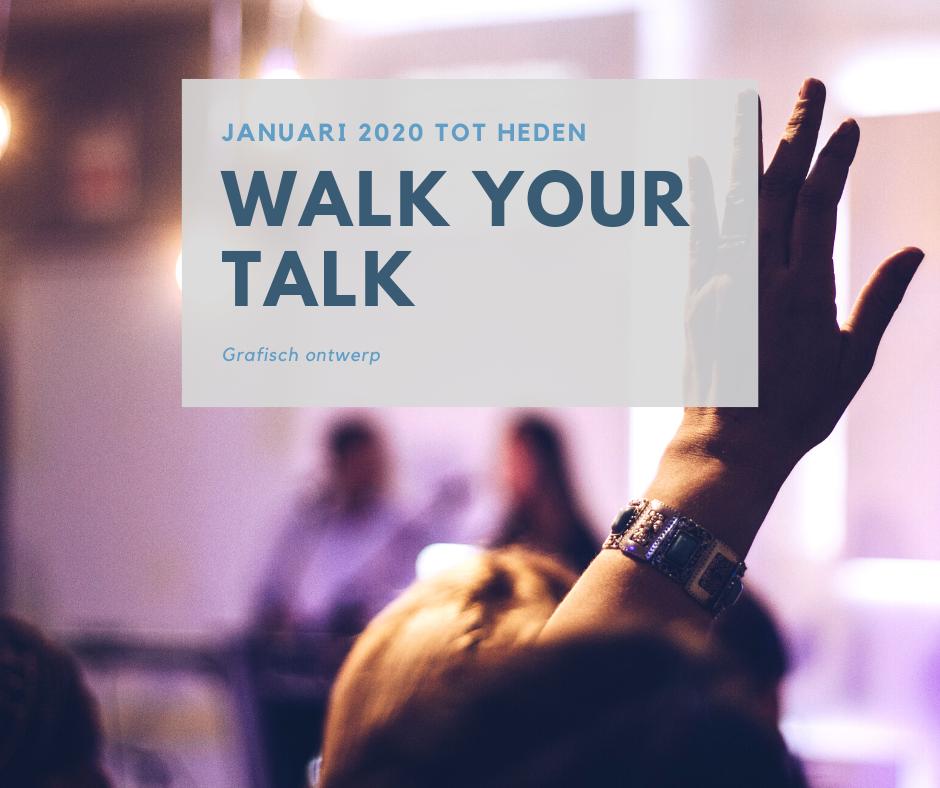 grafisch ontwerp voor Els Van Beveren van Walk your Talk